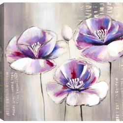 Mirrorize Canada Purple Beauty III, Floral Art, Canvas Print Wall Art