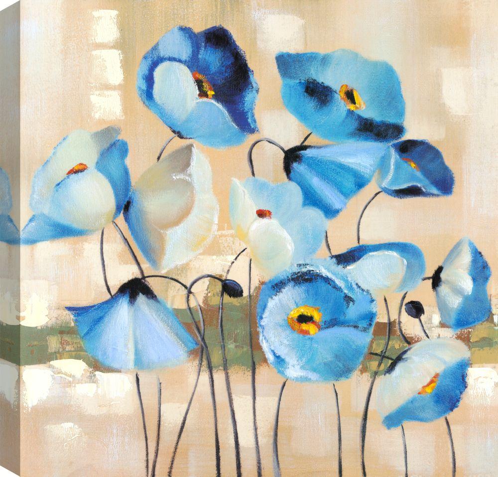 Flower Pot II, Floral Art, Canvas Print Wall Art