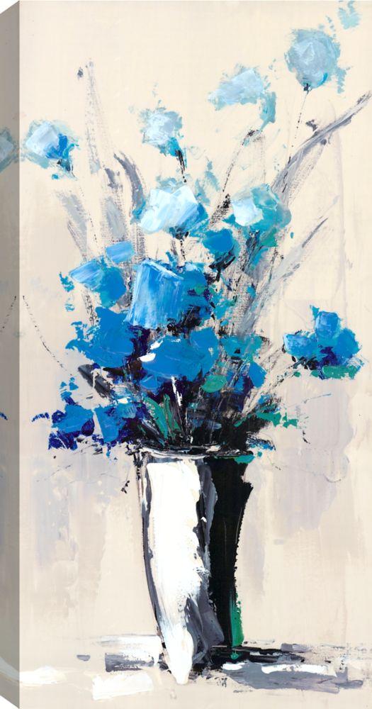 Flower Pot V, Floral Art, Canvas Print Wall Art