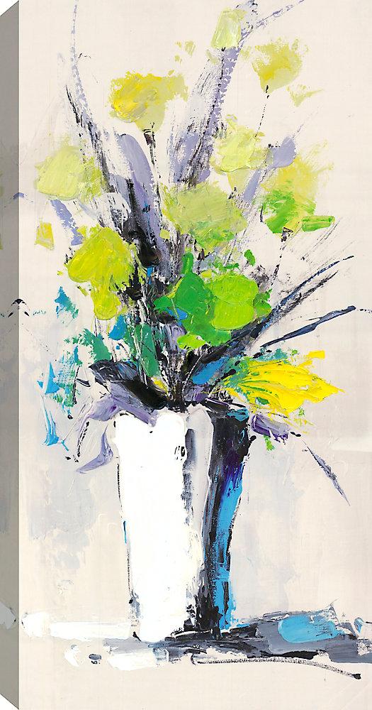 Flower Pot VI, Floral Art, Canvas Print Wall Art