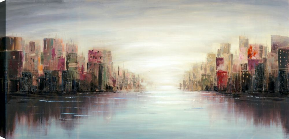 Mirrorize Canada City View I, Landscape Art, Canvas Print Wall Art