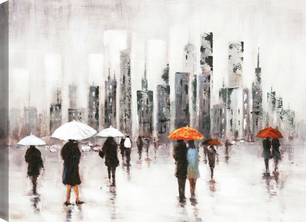 It's a Rainy Day I, Figurative Art, Canvas Print Wall