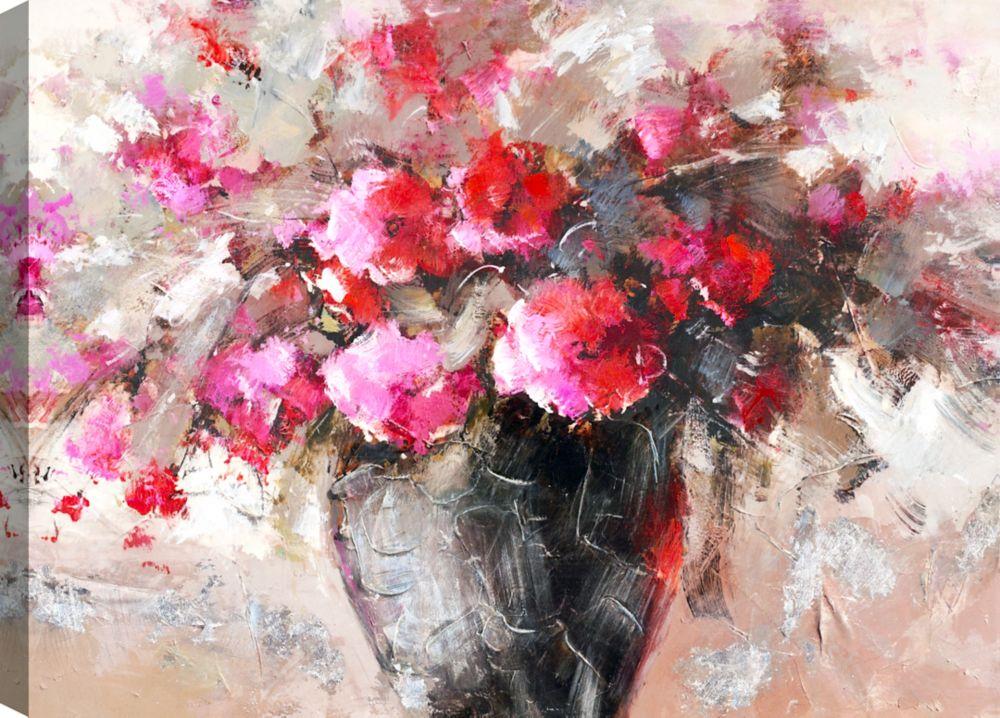 Flower Jar II, Floral Art, Canvas Print Wall Art
