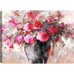 Mirrorize Canada Flower Jar II, Floral Art, Canvas Print Wall Art