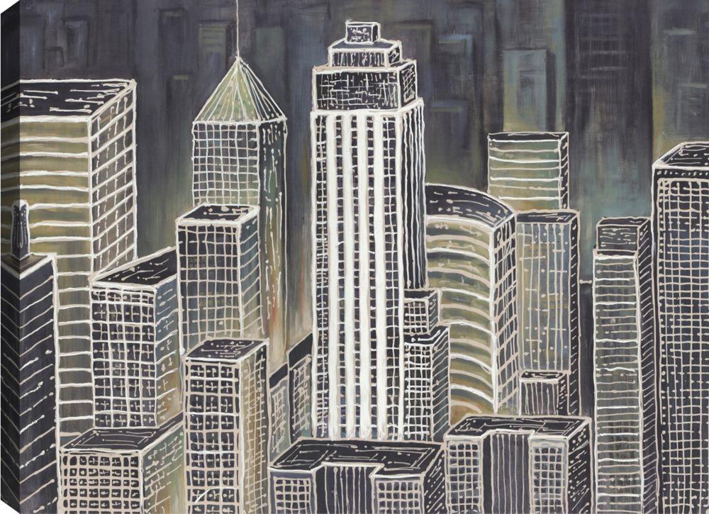 Mirrorize Canada Cityscape IV, Landscape Art, Canvas Print Wall Art