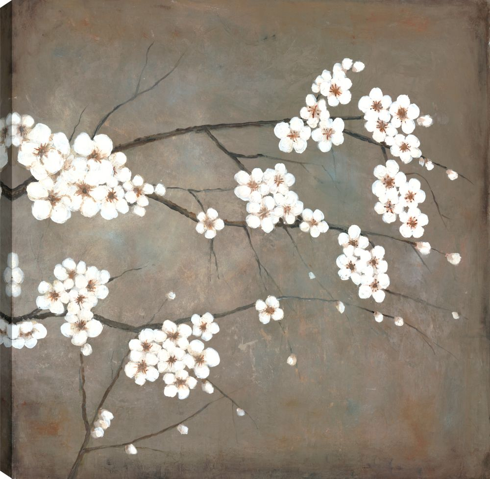 Art Maison Canada Cherry Blossoms Whites, Floral Art, Canvas Print Wall Art