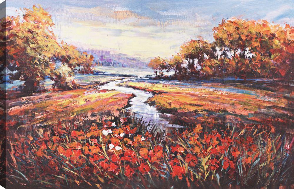 Lake View, Landscape Art, Canvas Print Wall Art