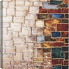Mur de briques, Art abstrait, toile imprimer Wall Art