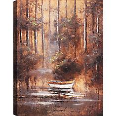 Promenade en bateau, Art du paysage, toile imprimer Wall Art