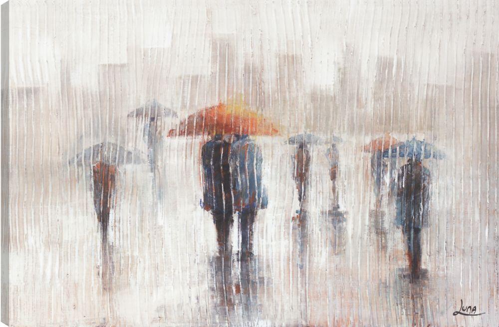 Umbrella Day I, Landscape Art, Canvas Print Wall Art