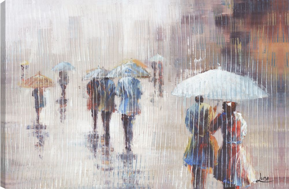 Umbrella Day II, Landscape Art, Canvas Print Wall Art
