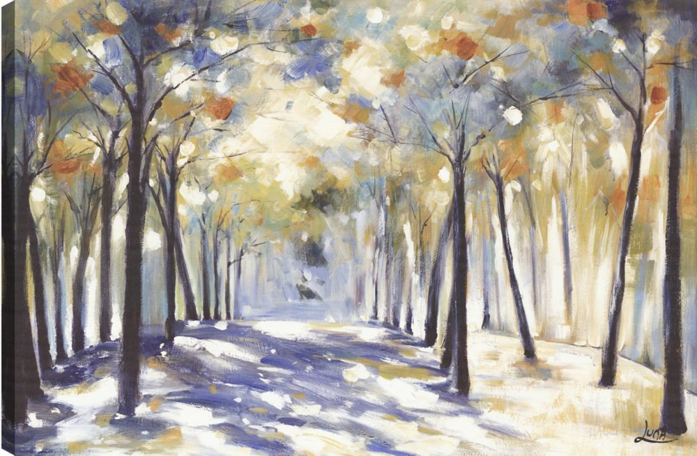 Art Maison Canada Walk in the Park, Landscape Art, Canvas Print Wall Art