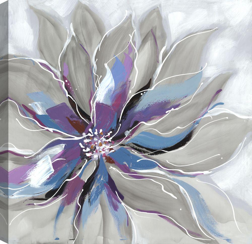 Art Maison Canada Purple Blue Floral Beauty Canvas Print Wall Art