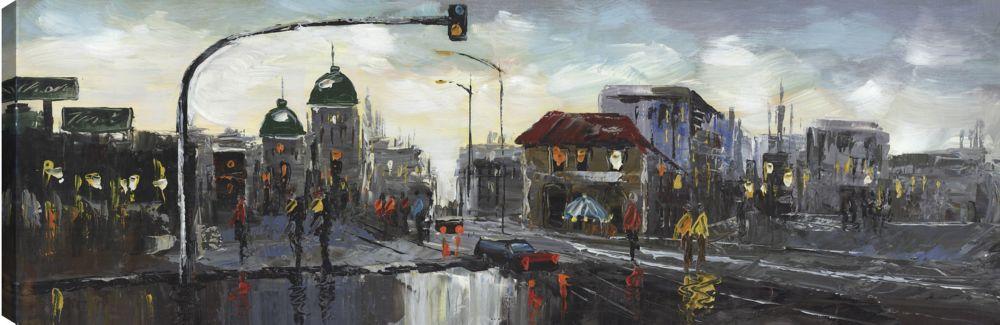 Art Maison Canada Street Life, Landscape Art, Canvas Print Wall Art