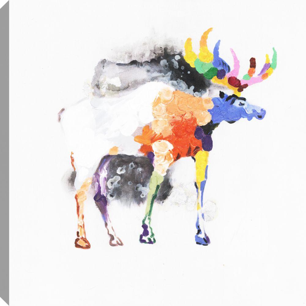 Art Maison Canada Colorful, Animal Art, Canvas Print Wall Art