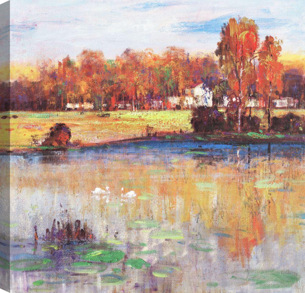 Art Maison Canada Lakeside, Landscape Art, Canvas Print Wall Art