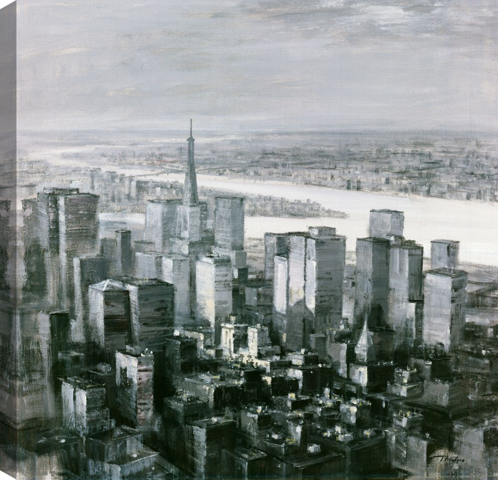 City View III, Landscape Art, Canvas Print Wall Art