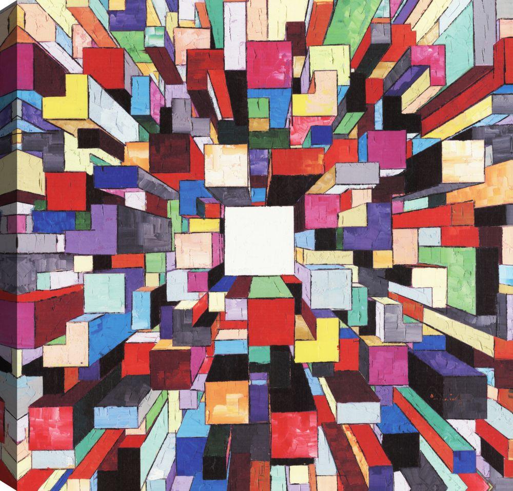 Prism Break I, Abstract Art, Canvas Print Wall Art