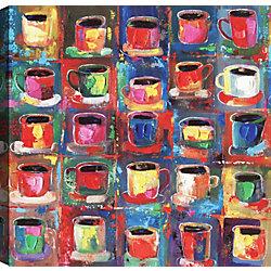 Art Maison Canada Cups, Abstract Art, Canvas Print Wall Art