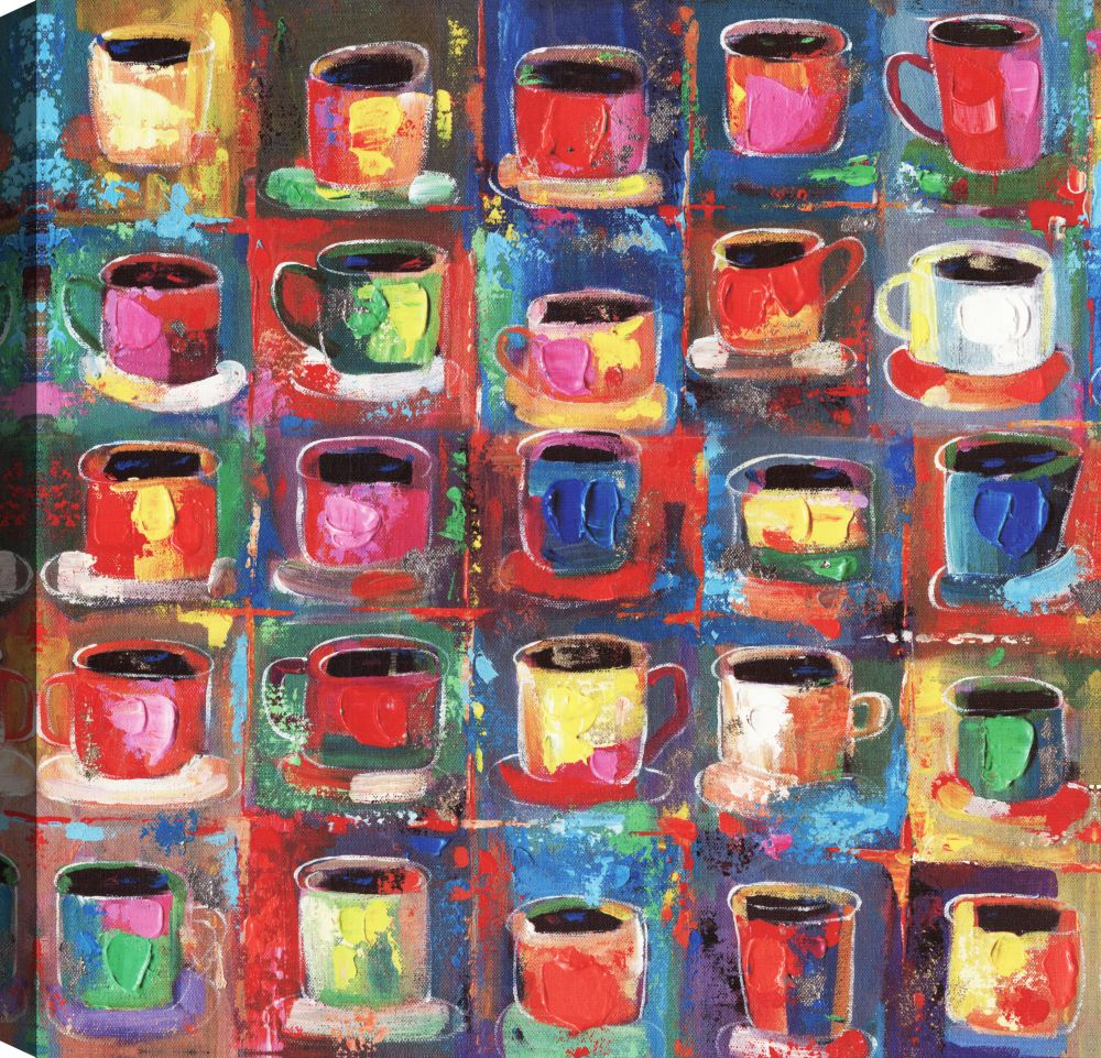 Art Maison Canada Cups, Abstract Art, Canvas Print Wall Art