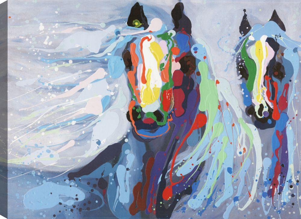 Art Maison Canada Blue Beauty III, Animal Art, Canvas Print Wall Art