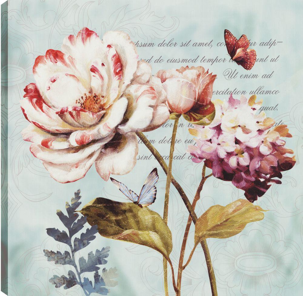 Floral Colors IV, Floral Art, Canvas Print Wall Art