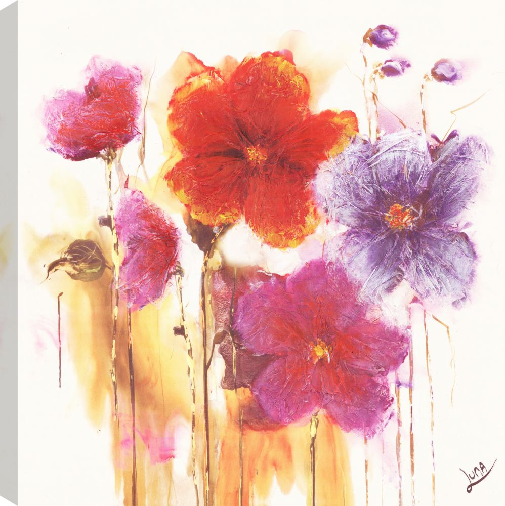 Art Maison Canada Bright Flowers, Floral Art, Canvas Print Wall Art