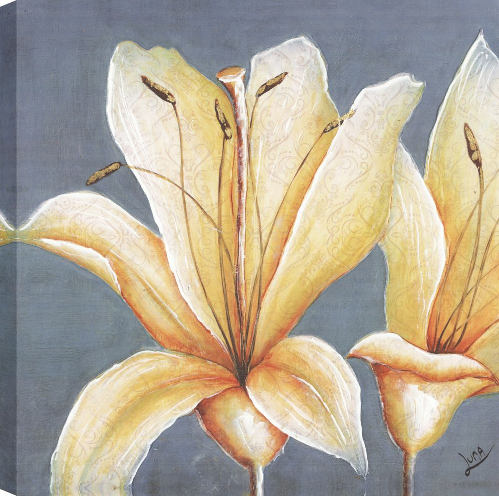 Art Maison Canada Yellow Lillys I, Floral Art, Canvas Print Wall Art