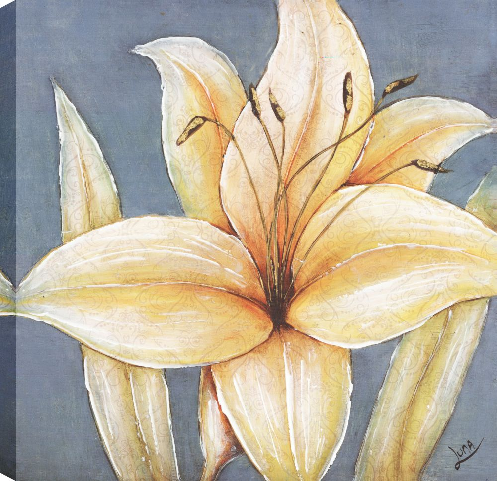 Yellow Lillys II, Floral Art, Canvas Print Wall Art