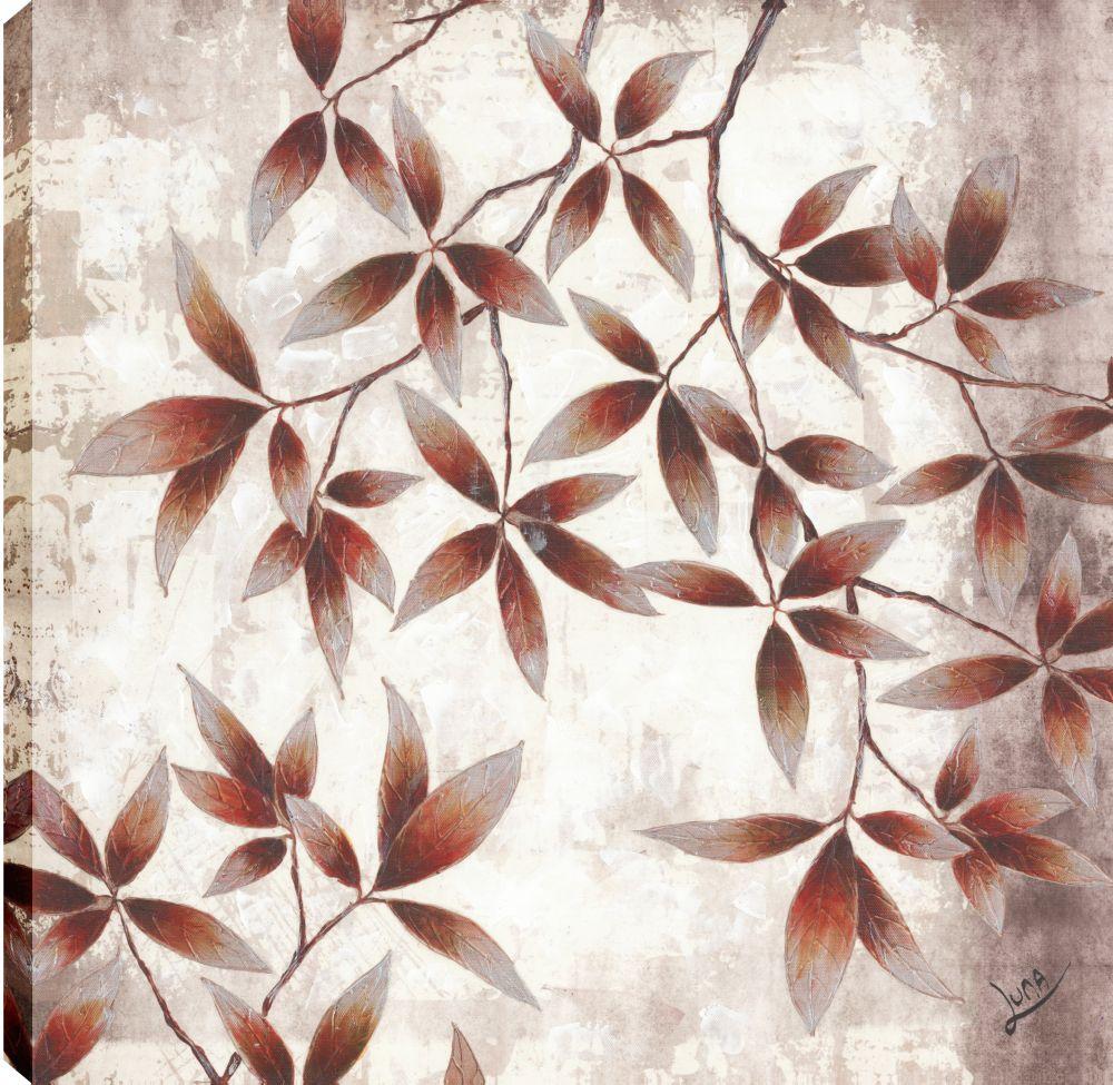 Brown Petals, Floral Art, Canvas Print Wall Art