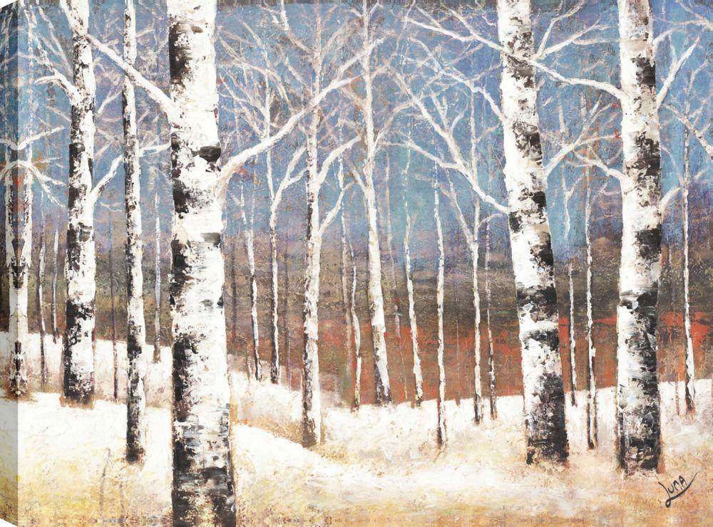 Old Birch Lane, Landscape Art, Canvas Print Wall Art