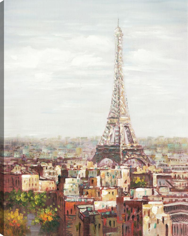 Art Maison Canada Paris Garden, Landscape Art, Canvas Print Wall Art