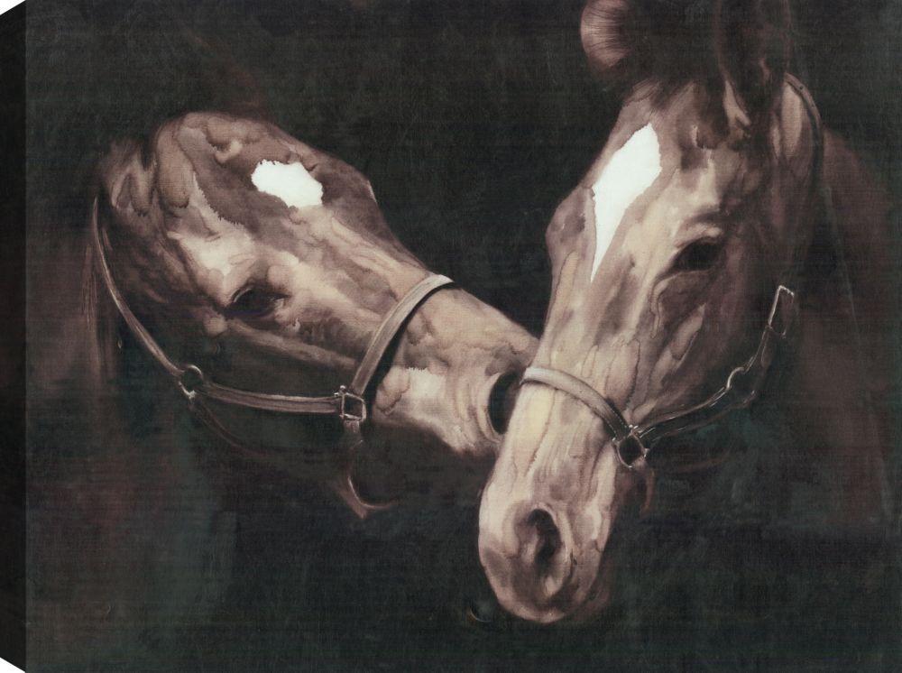 Art Maison Canada Horsy Love, Animal Art, Canvas Print Wall Art