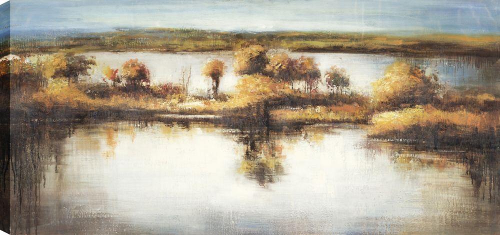 Mushy Lake II, Landscape Art, Canvas Print Wall Art