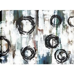 Art Maison Canada Anneaux noirs, Art abstrait, toile imprimer Wall Art