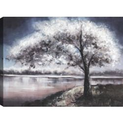 Art Maison Canada In the Night, Landscape Art, Canvas Print Wall Art