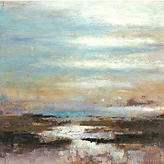 Point de lac, Art du paysage, toile imprimer Wall Art