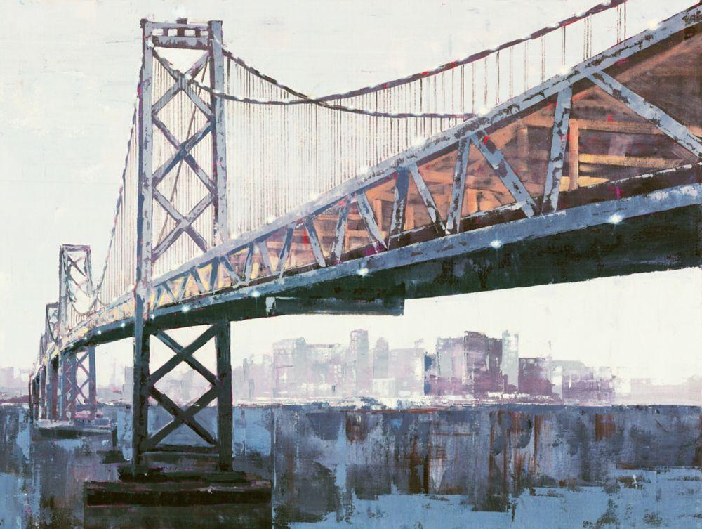 Cityline II, Landscape Art, Canvas Print Wall Art