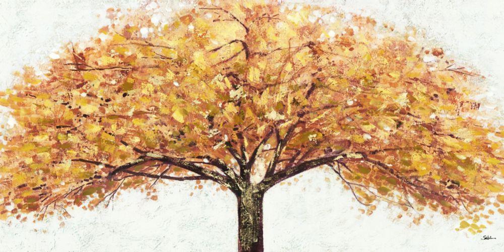 Tree Gold, Landscape Art, Canvas Print Wall Art