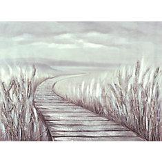 Marcher vers le lac, Art du paysage, toile impression Wall Art