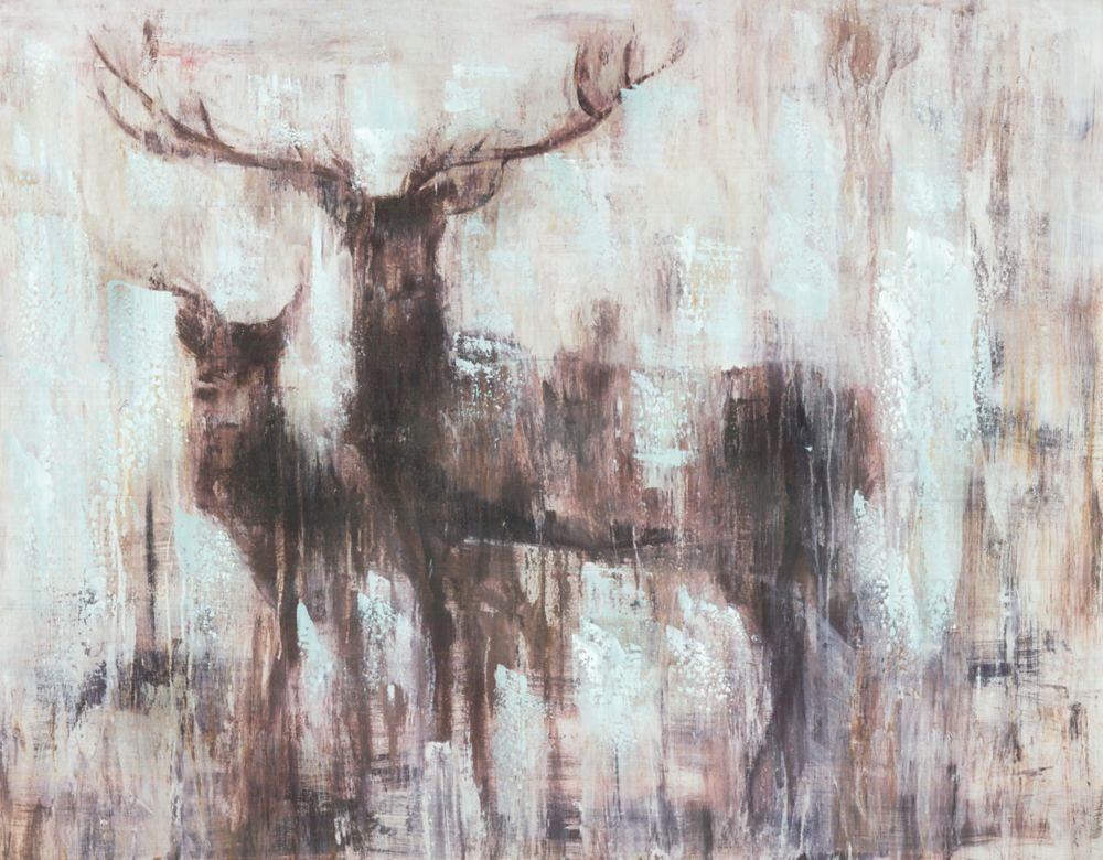 Art Maison Canada Deers I, Animal Art, Canvas Print Wall Art