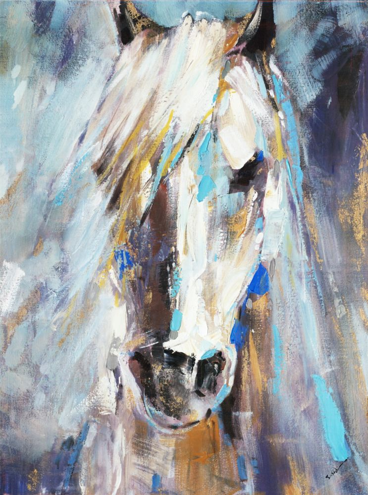 Blue Beauty III, Animal Art, Canvas Print Wall Art