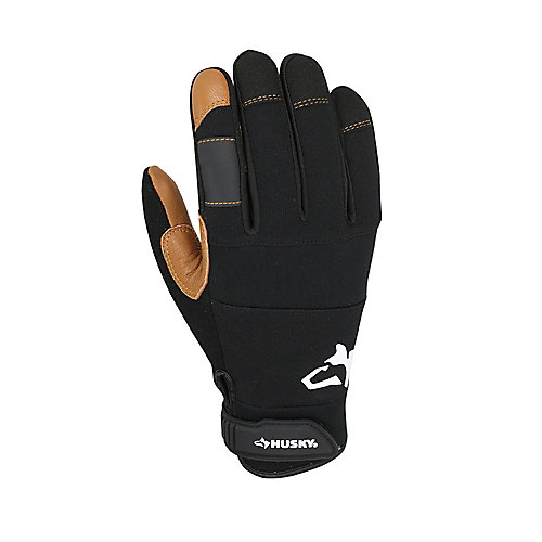 Goat Leather Medium Duty Work Gloves in Large (3-Pack)