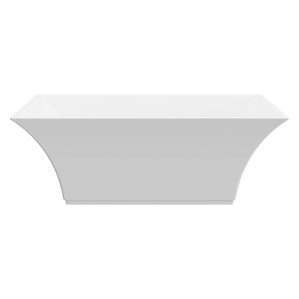 A&E Bath and Shower Marryat 67 inch Acrylic Freestanding Flatbottom Non-Whirlpool Bathtub in White No faucet