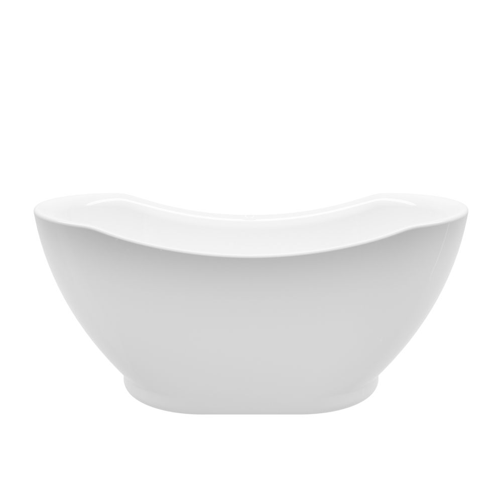 A&E Bath and Shower Athena 67 inch Acrylic Freestanding Flatbottom Non-Whirlpool Bathtub in White No faucet
