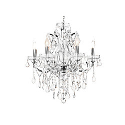 Maria Theresa 24 inch 6 Light Chandelier with Chrome Finish