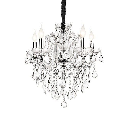 Riley 22 inch 5 Light Chandelier with Chrome Finish