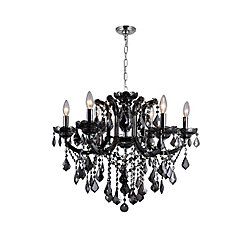 Riley 26-inch 6 Light Chandelier with Chrome Finish