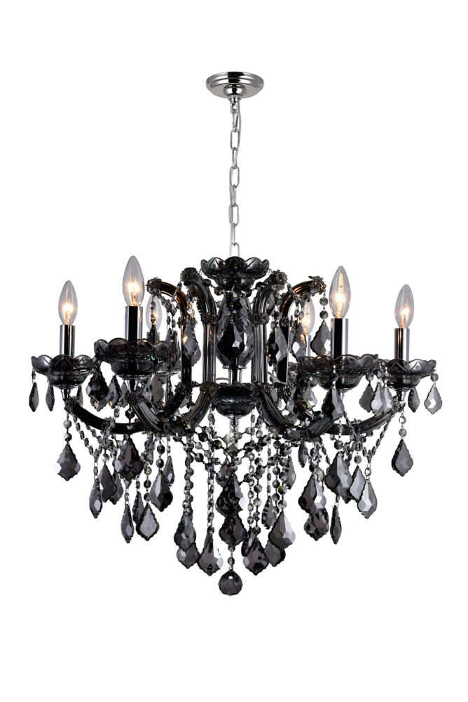 CWI Lighting Riley 26-inch 6 Light Chandelier with Chrome Finish