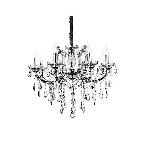 Riley 28-inch 8 Light Chandelier with Chrome Finish